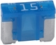 Bussmann BP/ATM-15LP-RP  Blue ATM Low-Profile 15 Amp Fast-Acting Automotive Mini Blade Fuses - 5 per Card