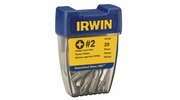 Irwin 357220  #2 Square Recess Bits Bits in Pro-Pak Container 20 per Package