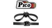 Pico Black Dual Tie Wraps with Mount Hole