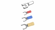 Pico #8 Stud Flanged Spade Terminals Vinyl Insulated
