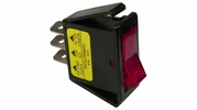 Pico 5530A  12 Volt 16 amp On-Off Red Illuminated Rocker Switch Flush Mount 25 Per Package