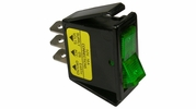 Pico 5535A  12 Volt 16 amp On-Off Green Illuminated Rocker Switch Flush Mount 25 Per Package