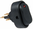 Pico 5584A  12 Volt 25 Amp On-Off Red LED Dot Illuminated Oval Rocker Switch SPST 25 per Package