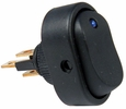Pico 5585A  12 Volt 25 Amp On-Off Blue LED Dot Illuminated Oval Rocker Switch SPST 25 per Package