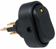 Pico 5586A  12 Volt 25 Amp On-Off Amber LED Dot Illuminated Oval Rocker Switch SPST 25 per Package