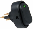 Pico 5587A  12 Volt 25 Amp On-Off Green LED Dot Illuminated Oval Rocker Switch SPST 25 per Package