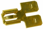 """Pico 1594QT  Electrical Wiring 0.250"""" Tab Brass Double Male/Female Quick Connect Flat """"Y"""" Adapter 2 Per Package"""
