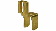 """Pico 1595PT  Electrical Wiring 0.250"""" Tab Brass Double Male/Female Quick Connect """"Y"""" Adapter 50 Per Package"""