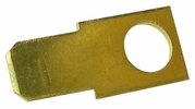 """Pico 1596A  Electrical Wiring Brass 0.250"""" Male Tab with #10 Stud Hole 1000 Per Package"""