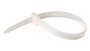 "Enkay 7080  8"" White Nylon Cable Ties 50# Strength - 100 per Package"