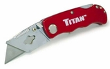 Titan 11015  Folding Pocket Utilty Knife with Quick Blade Change - Red