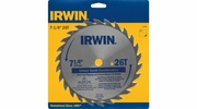 "Irwin 11040  7-1/4"" x 26 Tooth Chisel Tooth Combination Steel Circular Saw Blade"