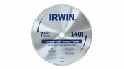 "Irwin 11840  7-1/4"" x 140 Tooth Plywood and Paneling Steel Circular Saw Blades"