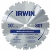 "Irwin 11270  10"" x 80 Tooth Master Combination Steel Circular Saw Blades"