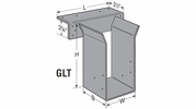 "Simpson Strong Tie GLT4-H15  3-1/2"" x 15"" Top Flange Hanger - Solid Sawn Lumber w/N54A Nails"