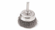 "Performance Tool W1211  1-1/2"" Fine Wire Brush Cup with 1/4"" Shank"