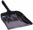 Fulton 182-B  Heavy Duty Steel Dust Pan - Black