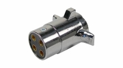 Pico 1876A  Chrome 4-Pole 20 Amp Male Plug Trailer Electrical Connector 50 Per Package