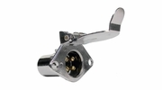 Pico 1875A  Chrome 4-Pole 20 Amp Female Socket Trailer Electrical Connector 50 Per Package