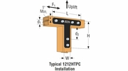 "Simpson Strong Tie 1212HTPC  12"" x 12"" x 2-1/2"" Ornamental ""T"" Beam to Column Strap Tie Textured Black"