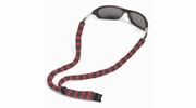 Chums RCH500S  Original Cotton Eye Glasses Retainer Standard End - Red & Gray Stripe