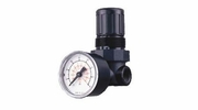 """Amflo 4100D  Mini Air Line Regulator with Gauge and 1/4"""" FNPT Ports"""