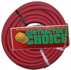 "Contractor's Choice RED3825  Red 3/8"" x 25' Rubber 300 psi Air Hose with 1/4"" NPT Ends"