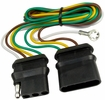 Pico 6590PT  3' Long 4-Way Flat Trailer Connector Extention with Exterior Ground