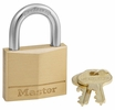 "Master Lock 140D  1-9/16"" Wide Solid Brass Body Padlock with 7/8"" Shacle Height"