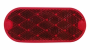 Peterson V480R  Reflector   Oblong Quick Mount   Red   2 Pk.