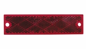 Peterson V487R  Compact Rectangular Reflector   Red   2 Pk