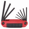 "Eklind 25911  9 Piece Ergo-Fold SAE Fold-Up Hex Key Set (5/64"" to 1/4"")"