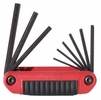 "Eklind 25912  9 Piece Ergo-Fold SAE Fold-Up Hex Key Set (0.05"" to 3/16"")"