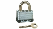 "Master Lock 22D  1-1/2"" Wide Laminated Warded Padlock with 5/8"" Shackle Height"