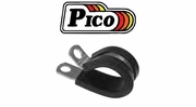 "Pico Aluminum Rubber Insulated Clamps 1/4"" Mount Hole 1/2"" Band"