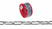 Campbell 0722827  2/0 Straight Link Coil Chain - 40' per Reel