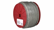 "Campbell 7000497  1/8"" 7 x 7 Clear Vinyl Coated Cable - 250 Feet per Reel"