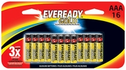 Eveready Gold A92BP-16H  AAA Alkaline Battery 16 per Package