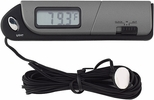 Bell Automotive 28001  Slimline Indoor/Outdoor Thermometer & Clock