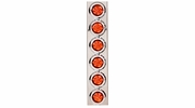 """Maxxima M005PB  Air Cleaner Lights w/(6) Beehive 2"""" Amber Vantage Lights in Stainless Steel Housing"""