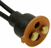 Pico 5424PT  Universal Double Contact Replacement Lamp Socket Pigtail w/Phenolic Disc and Weatherproof Boot