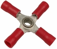 Pico 1721A  22-16 AWG(Red)  Flared Vinyl Insulated Electrical Wiring 4-Way Electrical Wiring Connectors 250 Per Package
