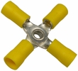 Pico 1921D  12-10 AWG(Yellow)  Flared Vinyl Insulated Electrical Wiring 4-Way Electrical Wiring Connectors 2 Per Package