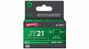 "Arrow Fastener 276  JT21 3/8"" Flat Crown Light Duty Staples 1000 per Package"