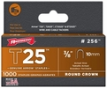 "Arrow Fastener 256  T25 3/8"" Round Crown Staples 1000 per Package"