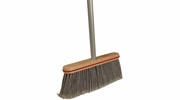 "Harper Brush 10804A  12"" Smooth Surface Upright Broom w/Handle"