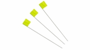 "Irwin 64102  Strait-Line 2-1/2"" x 3-1/2"" x 21"" Glo-Lime Stake Flags 100 per Package"