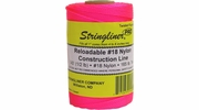 Stringliner 35409  540' Twisted Nylon Construction Line Fluorescent Pink 1/2-lb. Replacement Roll