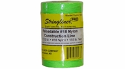Stringliner 35468  500' Braided Nylon Construction Line Fluorescent Green 1/2-lb. Replacement Roll