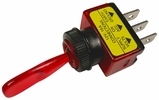 """Pico 5536A  12 Volt 16 Amp On-Off Toggle Switch 1"""" Red Illuminated Handle SPST 25 Per Package"""